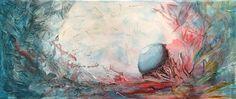 Perle in Eishöhle  58 cm x 25 cm Acryl auf Leinwand, 2016 Painting, Idea Paint, Abstract, Canvas, Art Production, Painting Art, Paintings, Painted Canvas, Drawings