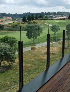 Edge Semi Frameless Glass Balustrade with Protruding Glass Apr 2011