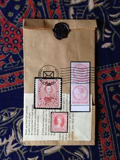 Wax seal and stamps.