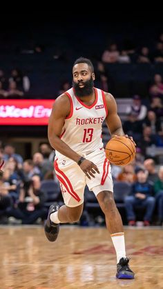 The super star James Harden is in his peak period these years, but no breakthrough, will he still have chance to win NBA champion in Huston Rocket? Harden Basketball, Celtics Basketball, Basketball Players, Basketball Tattoos, Basketball Workouts, Basketball Pictures, Basketball Shirts, James Harden, Basketball Boyfriend