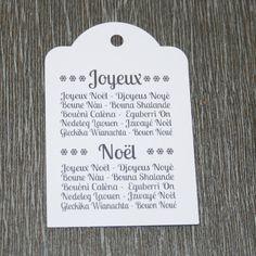 """9 étiquettes cadeau """"Joyeux Noël"""" en patois : Emballages cadeaux par creerpourvous"""