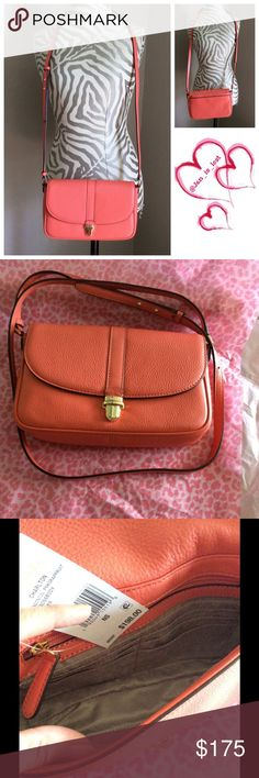 Michael Kors Grapefruit Large Charlton NWT - Adjustable crossbody strap - Push-lock closure - Exterior features back slip and zip pockets - Interior features 6 card slots, 1 zip and 1 slip pocket Materials: Leather exterior, fabric lining.  NWT color is grapefruit style is Charlton large leather cross body. MICHAEL Michael Kors Bags Crossbody Bags