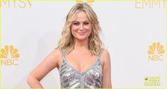 Amy Poehler Is Decked Out in Sequins for Emmys 2014!