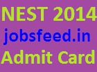 NEST Admit Card 2014 Download NISER Entrance Exam Hall Ticket