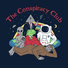 art - The Conspiracy Club TShirt Bizarre Kunst, Bizarre Art, Psychedelic Art, Art And Illustration, Arte Alien, Wow Art, Area 51, Aesthetic Art, Aesthetic Drawing