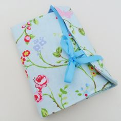 Interchangeable knitting needle case. Delicate birds fabric