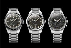 In 1957, OMEGA Watches released three profession timepieces that would go on to shape the history of the brand. The 60th anniversary editions of the Seamaster 300, Railmaster and Speedmaster are limited to 3,557 pieces and their look and feel is almost identical to their predecessors 60 years ago.