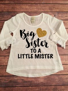 This is a super cute ruffle trimmed long sleeve shirt for your little sweetie! It comes in multiple colors! You can also change the font color if you