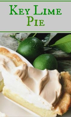 You will love this delightful and easy-to-make Florida key lime pie. Key limes are a variety of limes that were once grown extensively on the florida keys. Lime Meringue Pie, Key Lime Pie Recipe With Meringue, Florida Key Lime Pie Recipe, Key Lime Pie Rezept, Pie Recipes, Cooking Recipes, Dessert Recipes, Keylime Pie Recipe, Frozen Chocolate