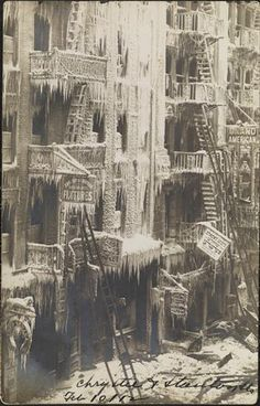 Chrystie and Stanton Streets, Lower East Side, 1912. Photo by Eugene Wemlinger. Photo from the Museum of the City of New York. After a fire.