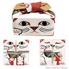 furoshiki...lucky cat