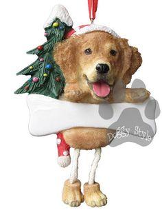Dangling Leg Golden Retriever Christmas Ornament http://doggystylegifts.com/products/dangling-leg-golden-retriever-christmas-ornament