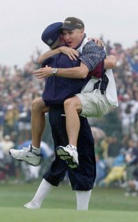 Player - Payne Stewart - 1999 US Open Champion (Pinehurst) with Caddy Mike Hicks (SeeMore SPi Instructor)