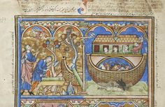 Basketweave boat. Medieval Manuscript Images, Pierpont Morgan Library, Old Testament miniatures (MS M.638). MS M.638 fol. 2v