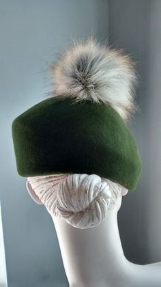 6f0a4c7022d Olive Green Beret- Back- Mind Your Bonce Millinery by Karen Geraghty French  Hat