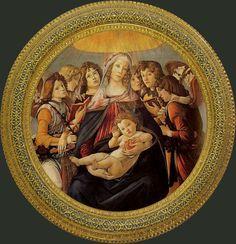 Uffizi Gallery. BOTTICELLI. Мадонна с гранатом. с. 1487