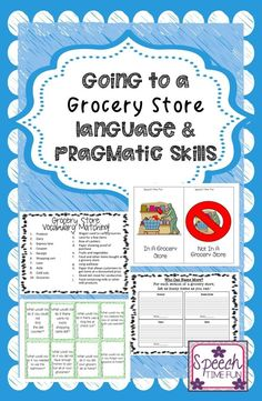 Want to do functional themes in speech therapy that targets vocabulary seen around a community? This grocery store pack is perfect for school-based SLPs!