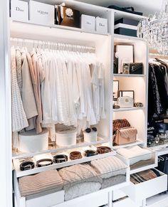 Bedroom Closet Design, Home Room Design, Room Ideas Bedroom, Dream Home Design, Closet Designs, Bedroom Decor, Wardrobe Room, Dressing Room Design, Ikea Dressing Room
