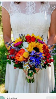 Sunflower bouquet wildflowers garden daisies red roses Visual Poetry s Prom Bouquet, Fall Wedding Bouquets, Bride Bouquets, Floral Wedding, Wedding Colors, Sunflower Bouquets, Sunflower Boutonniere, Wedding Ceremony Ideas, Prom Flowers
