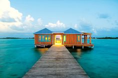 A house on the water in Belize.