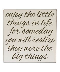 Cream & Brown 'Little Things' Wall Sign
