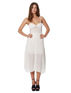 4ae6143b6544 bec and bridge Gypsy Laces Midi Dress Ivory find it and other fashion  trends. Online shopping for bec and bridge clothing. The gypsy laces midi  dress is a.