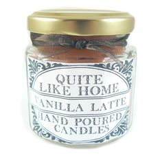 Vanilla Latte scented 4 oz. jar candle by QuiteLikeHome on Etsy