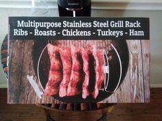 Turkey Ham, Grill Rack, Stainless Steel Grill, Rib Roast, Roast Chicken, Ribs, Cave, Grilling, Beef