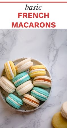 I'm not holding anything back!!  These dainty little almond cookies are simply divine! And I'm here to help you find your groove with these Basic French Macarons #basicfrenchmacaronsrecipe #macaronsrecipe #macaronsrecipeeasy Easy No Bake Desserts, Easy Cookie Recipes, Gourmet Recipes, Baking Recipes, Snack Recipes, Snacks, Traditional French Desserts, Classic French Desserts, French Dessert Recipes