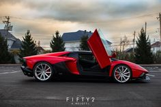 Eye Candy: Rosso Mars Aventador on PUR Wheels | automotive99.com