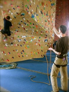 Learn to belay and climb in our Intro to climbing class! Offered daily at GWPC.