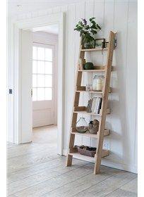 Our original Raw Oak Shelf Ladder, with 6 graded shelves, offers a striking and fresh shelving alternative.