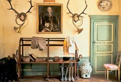 English Manor House - Nothing about this would work in our entry, but captures the english country house feel I want in t - English Manor Houses, English House, English Style, French Style, Classic Style, English Country Decor, French Country, French Cottage, English Farmhouse