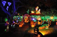 Decoration Party Ideas, Halloween Decorations Uk, Outdoor Halloween Parties, Halloween Outside, Halloween Displays, Halloween Home Decor, Halloween Lighting, House Decorations, Decor Ideas