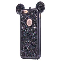For Iphone 7Plus Luxury Grediant Glitter Case Cute 3D Minnie Mickey... ❤ liked on Polyvore featuring accessories and tech accessories