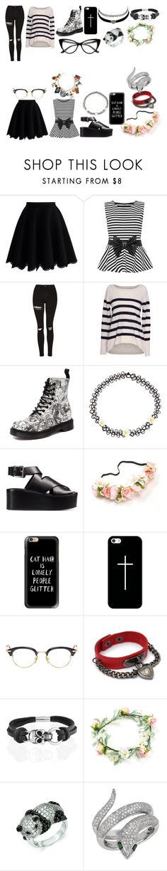 """""""Untitled #221"""" by lolatriplet ❤ liked on Polyvore featuring Chicwish, WearAll, Topshop, Velvet by Graham & Spencer, Dr. Martens, Monsoon, Alexander Wang, Casetify, Thom Browne and Charlotte Russe"""