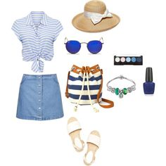 I want holidays by fakefairy on Polyvore featuring moda, Forever New, Topshop, Arizona, Ray-Ban, Gottex and OPI