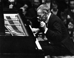 The only picture of Rachmaninoff in concert.