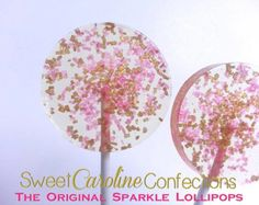 Unicorn Lollipops Gold Silver Light Pink by SweetCarolineConfect