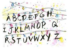 Stranger Things Alphabet Wall Christmas Lights by OlechkaDesign on Etsy