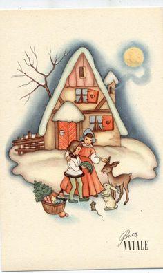 Serie Completa di 6 cartoline Art Deco Bambini Buon Natale PC Circa 1940   eBay