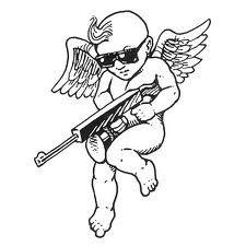 Tommy Putto Cupid Tattoo, Chicanas Tattoo, Poke Tattoo, Life Tattoos, Body Art Tattoos, Sleeve Tattoos, Cool Tattoos, Tattoo Sketches, Tattoo Drawings