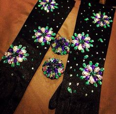 Custom gloves Rhinestoned burlesque or wedding by HollyDaiBoutique