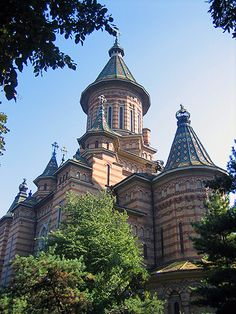 Timisoara - Orthodox Cathedral | Timişoara - Romanian Orthod… | Flickr Cathedral Church, Bucharest, Beautiful Buildings, Big Ben, The Good Place, Places To Go, Travel 2017, Europe, Cathedrals