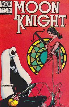 Moon Knight #24 Bill Sienkiewicz Pencils And Cover Art #moonknight #comicbooks #marvelcomics