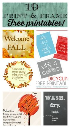 19 free printables for fall