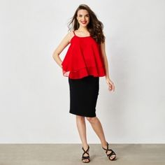 Rouge Tiered Top