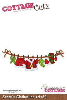 CottageCutz Santa's Clothesline (4x6)