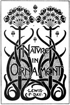 art nouveau book plate - Nature in Ornament by kits.cardinal, via Flickr