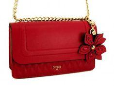 !!!Guess Umhängetasche Sibyl Kette gold Rauten Lipstick rot Guess Bags, Kate Spade, Fashion, Diamond Shapes, Guess Handbags, Moda, La Mode, Fasion, Fashion Models